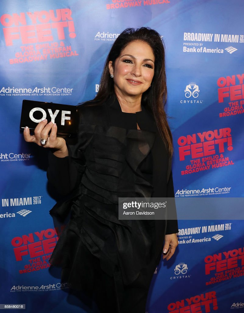 Gloria Estefan attends 'On Your Feet!' National Tour Opening Night at Adrienne Arsht Center on October 6, 2017 in Miami, Florida.