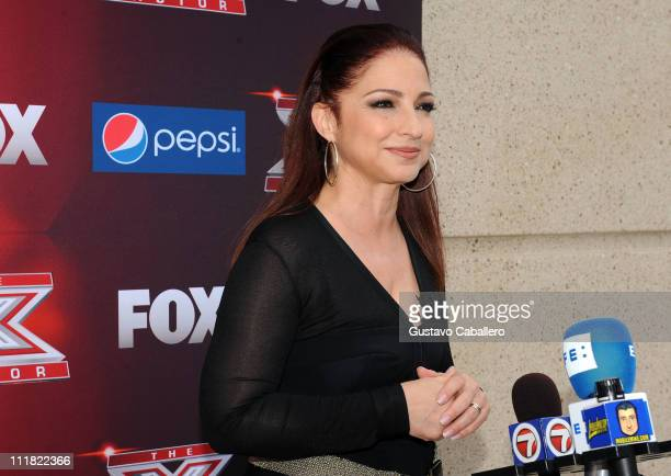 Gloria Estefan attends Pepsi Turns Up The Heat At Miami X Factor Auditions at Bank United Center on April 7 2011 in Miami Florida