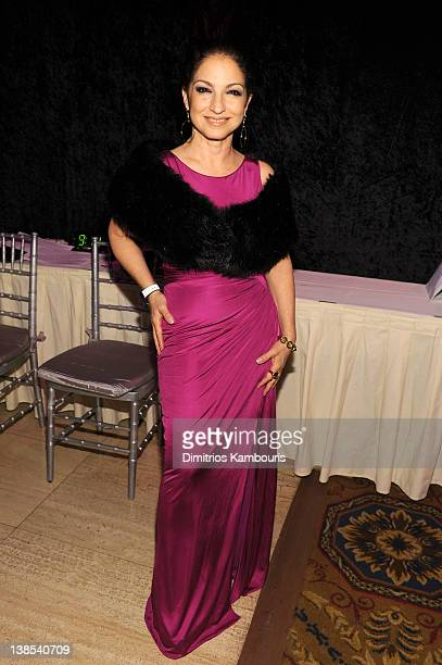 Gloria Estefan attends the amfAR New York Gala To Kick Off Fall 2012 Fashion Week Presented By Hublot at Cipriani Wall Street on February 8 2012 in...