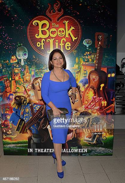 "Gloria Estefan attends ""THE BOOK OF LIFE"" Red Carpet at Regal South Beach 18 on October 13, 2014 in Miami, Florida."