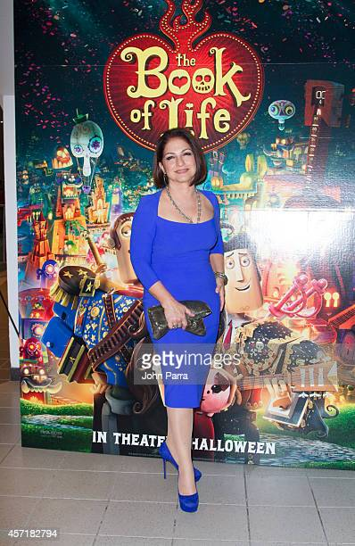 Gloria Estefan attends The Book Of Life red carpet screening>> at Regal South Beach on October 13 2014 in Miami Florida