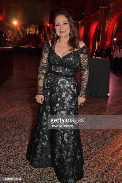 Gloria Estefan attends The Olivier Awards 2019 after party at The Natural History Museum on April 7 2019 in London England