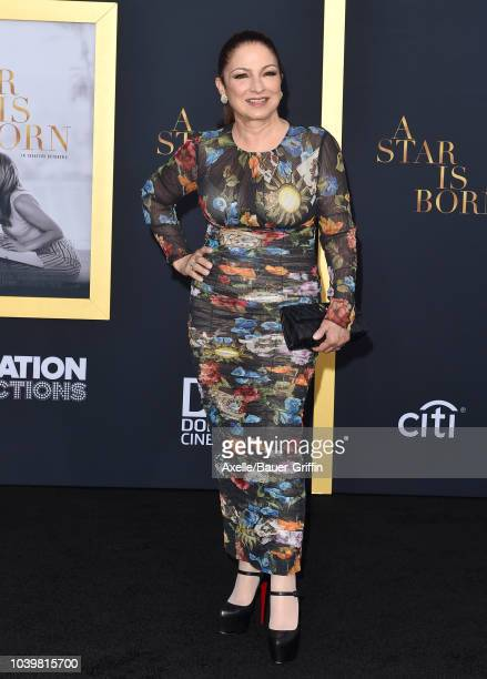 Gloria Estefan attends the premiere of Warner Bros Pictures' 'A Star Is Born' at The Shrine Auditorium on September 24 2018 in Los Angeles California