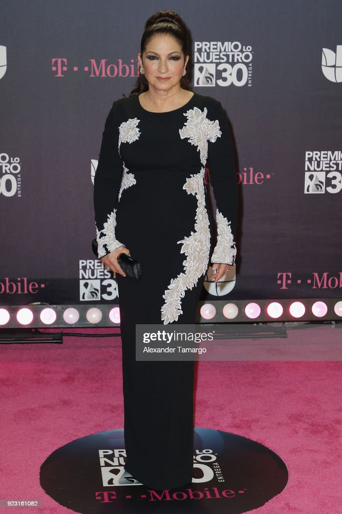 Gloria Estefan attends Univision's 30th Edition Of 'Premio Lo Nuestro A La Musica Latina' at American Airlines Arena on February 22, 2018 in Miami, Florida.