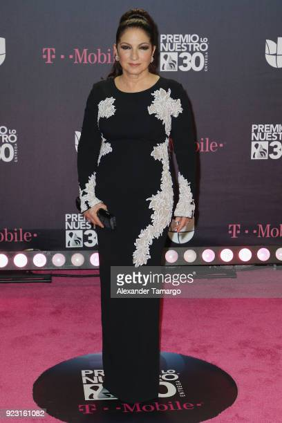 Gloria Estefan attends Univision's 30th Edition Of Premio Lo Nuestro A La Musica Latina at American Airlines Arena on February 22 2018 in Miami...