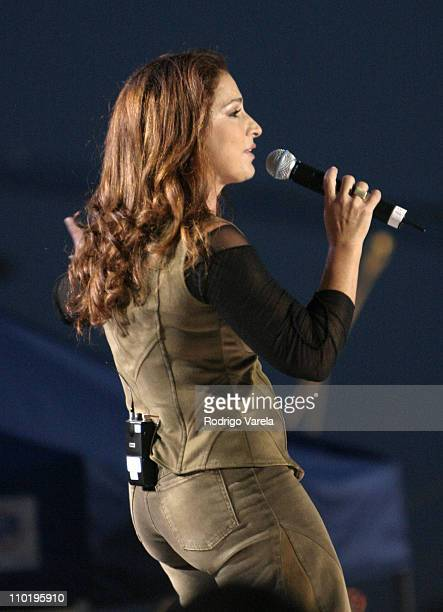 Gloria Estefan during A Tribute To Our Heroes Concert at Naval Station Norfolk in Norfolk Virginia United States