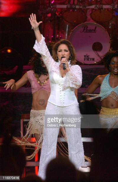Gloria Estefan during Gloria Estefan 'Live And Rewrapped Summer 2004 Tour' September 21 2004 at Madison Square Garden in New York City New York...