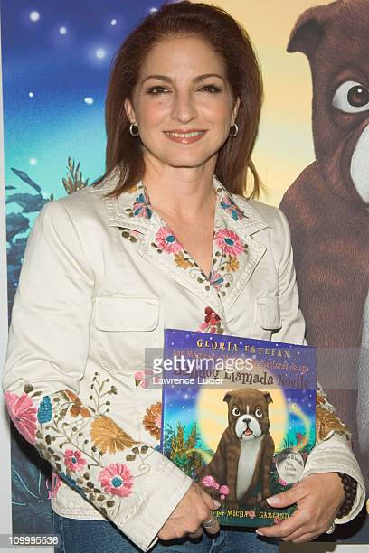 Gloria Estefan during Gloria Estefan Signs Her Book Noelle the Bulldog at Toys R Us in New York City October 12 2005 at Toys R Us in New York NY...