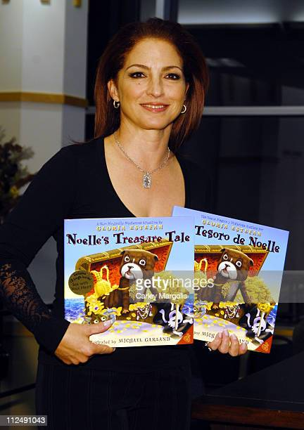 Gloria Estefan during Gloria Estefan Signs Her New Book Noelle's Treasure Tales October 12 2006 at Barnes and Noble in New York City New York United...