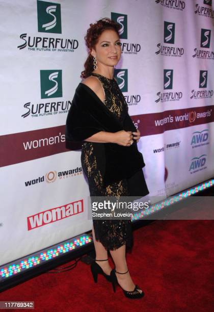 Gloria Estefan during The 2006 Women's World Awards Red Carpet at The Hammerstein Ballroom in New York City New York United States