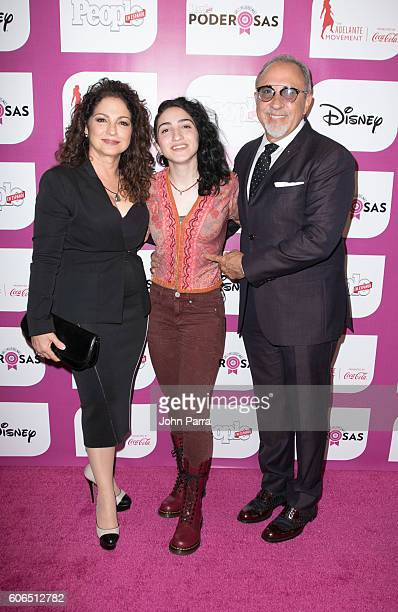 Gloria Estefan Emily Estefan and Emilio Estefan arrive at People En Espanol Celebrates The 25 Most Powerful Women on September 16 2016 in Miami...