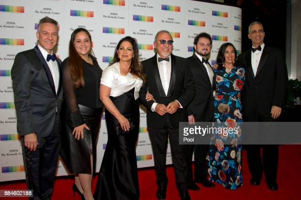 Gloria Estefan her husband Emilio and their family arrive for the formal Artist's Dinner honoring the recipients of the 40th Annual Kennedy Center...