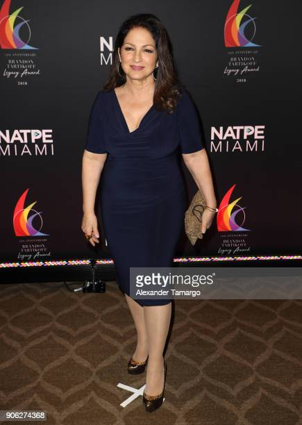 Gloria Estefan is seen at the Brandon Tartikoff Legacy Awards at NATPE 2018 at the Fontainebleau Hotel on January 17 2018 in Miami Beach Florida