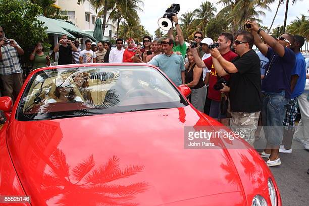 Gloria Estefan Kathy Griffin and Rosie O'Donnell are sighted filming scenes for Life On The D List at Larios on March 19 2009 in Miami Beach Florida