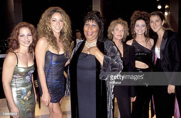 Gloria Estefan Mariah Carey Aretha Franklin Carole King Shania Twain and Celine Dion at the Beacon Theatre in New York City New York