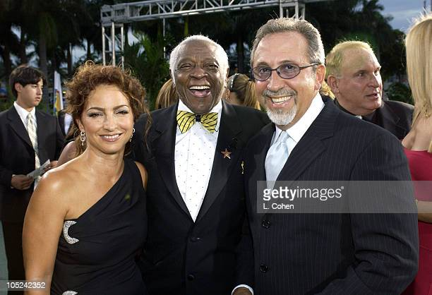 Gloria Estefan Pedro Knight and Emilio Estefan during 4th Annual Latin GRAMMY Awards Heineken Green Carpet at American Airlines Arena in Miami...