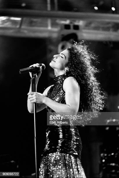 Gloria Estefan performing with Miami Sound Machine at Madison Square Garden in New York City on September 27 1991