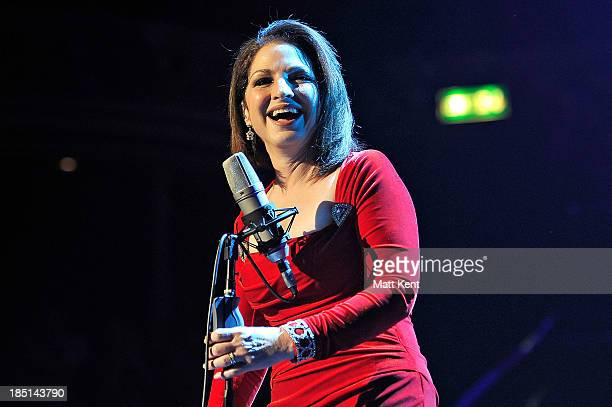 Gloria Estefan performs at Royal Albert Hall on October 17 2013 in London England