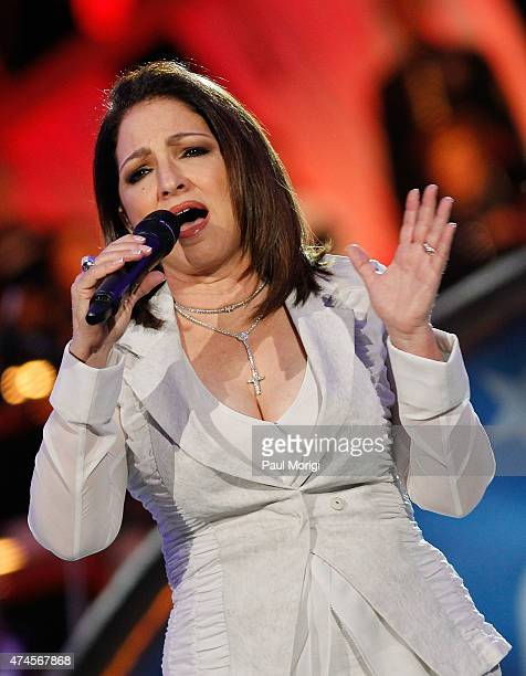 Gloria Estefan performs at the 26th National Memorial Day Concert Rehearsals on May 23 2015 in Washington DC