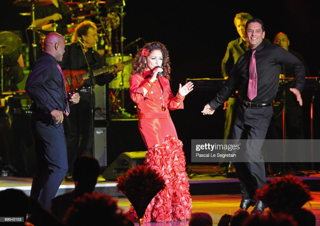 Gloria Estefan performs at the 61st Monaco Red Cross Ball at the Monte Carlo Sporting Club on July 31, 2009 in Monte Carlo, Monaco.
