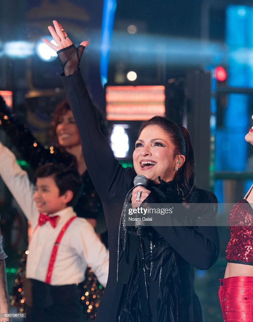 Gloria Estefan performs during New Year's Eve 2017 in Times Square on December 31, 2016 in New York City.