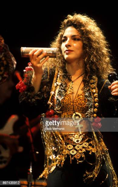 Gloria Estefan performs on stage at Ahoy Rotterdam Netherlands 10th October 1989