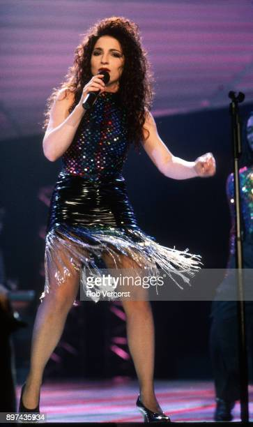 Gloria Estefan performs on stage at Ahoy Rotterdam Netherlands 11th May 1991
