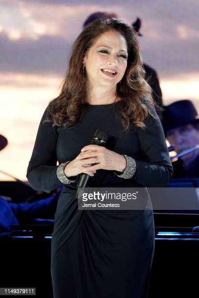 Gloria Estefan performs onstage at the Statue Of Liberty Museum Opening Celebration on May 15 2019 at Ellis Island in New York City