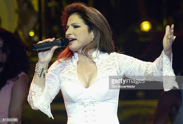 Gloria Estefan performs part of her Live ReWrapped Summer Tour 2004 at HP Pavilion on August 21 2004 in San Jose California