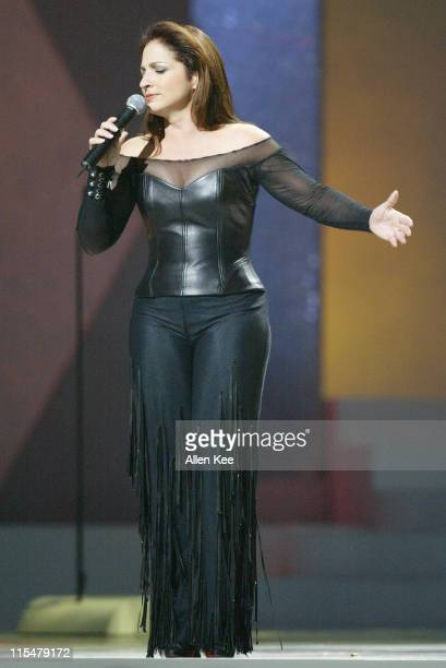 Gloria Estefan performs Tu Fotografia during 2004 Billboard Latin Music Awards Show at The Miami Arena in Miami Florida United States