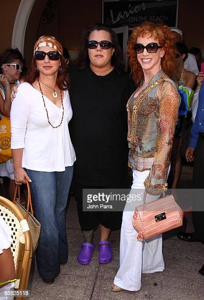 Gloria Estefan Rosie O'Donnell and Kathy Griffin are sighted filming scenes for Life On The D List at Larios on March 19 2009 in Miami Beach Florida