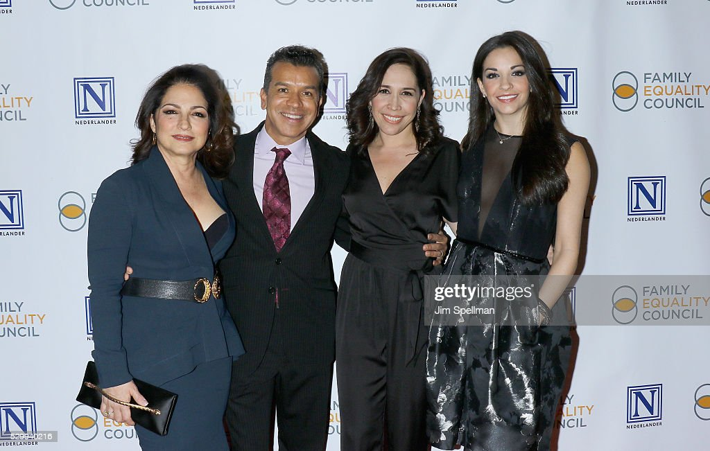Gloria Estefan, Sergio Trujillo, Andrea Burns, and Ana Villafane attend the 11th Annual Family Equality Council Night at the Pier at Pier 60 on May 9, 2016 in New York City.