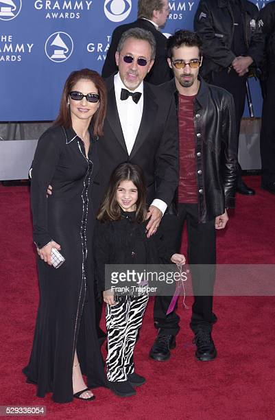 Gloria Estefan singer with her husband Emilio and her daughter Emily and her husband Najib