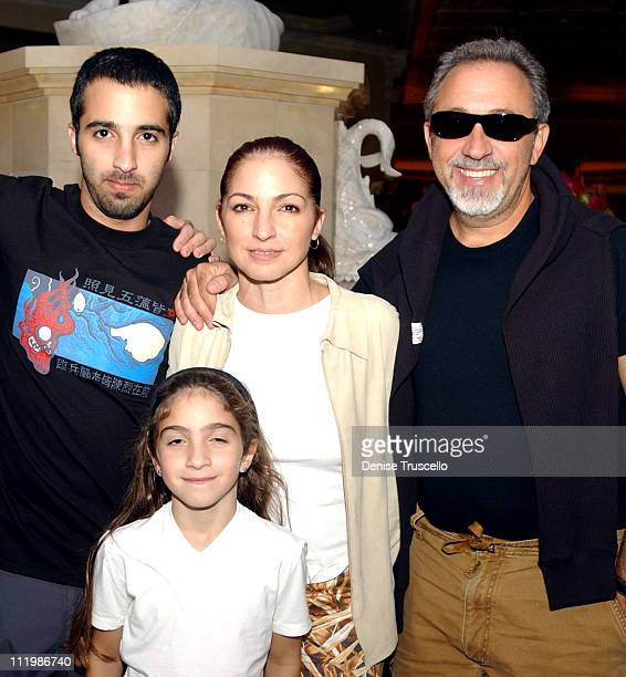 Gloria Estefan takes a vacation at Caesars Palace in Las Vegas with her husband Emilio and their two children Nayib and Emily Marie