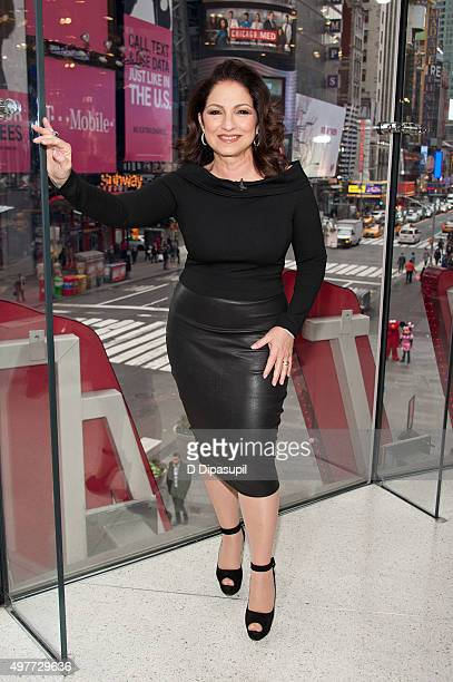 Gloria Estefan visits Extra at their New York Studios at HM in Times Square on November 18 2015 in New York City
