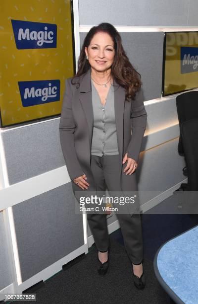 Gloria Estefan visits Magic Radio on November 14 2018 in London England