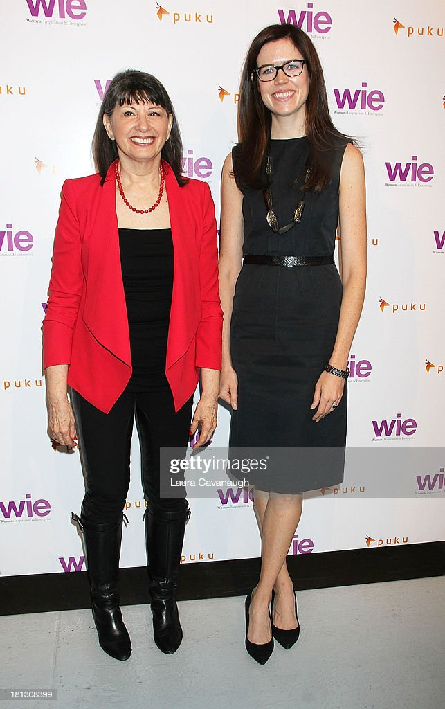 Gloria Feldt, Co-Founder/President of Take the Lead (L) and Charlotte Howard, Editor of The Economist attend day 1 of the 4th Annual WIE Symposium at Center 548 on September 20, 2013 in New York City.