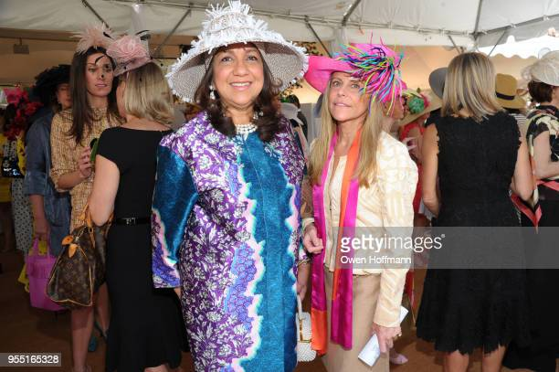 Gloria Fieldcamp and Maria Estrany Gendre attend 36th Annual Frederick Law Olmsted Awards Luncheon Central Park Conservancy at The Conservatory...