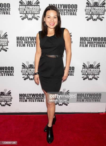 Gloria Garayua arrives at A Dark Foe Film Premiere on February 15 2020 in Los Angeles California