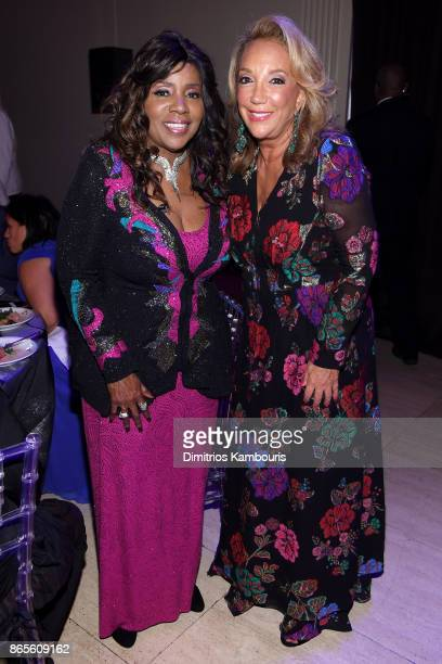 Gloria Gaynor and Denise Rich attend Gabrielle's Angel Foundation's Angel Ball 2017 at Cipriani Wall Street on October 23 2017 in New York City