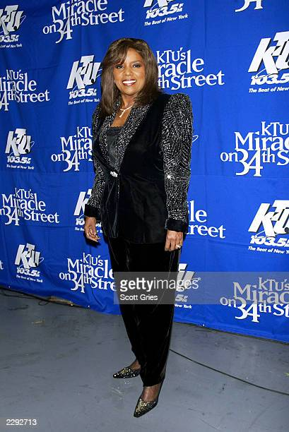 """Gloria Gaynor backstage during """"KTU's Miracle on 34th Street"""" hoilday concert at Madison Square Garden in New York City. December 18, 2002. Photo by..."""