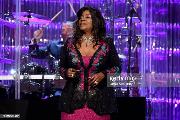 Gloria Gaynor performs onstage at Gabrielle's Angel Foundation's Angel Ball 2017 at Cipriani Wall Street on October 23 2017 in New York City
