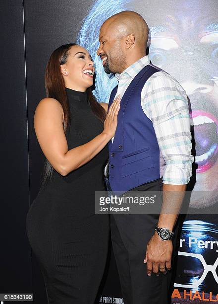 Gloria Govan and Derek Fisher arrive at the Los Angeles Premiere Boo A Madea Halloween at ArcLight Cinemas Cinerama Dome on October 17 2016 in...