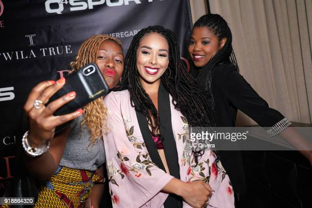 Gloria Govan and guests attend Regard Magazine 2018 NBA AllStar PreParty hosted by Derek Fisher at Soho House on February 15 2018 in West Hollywood...