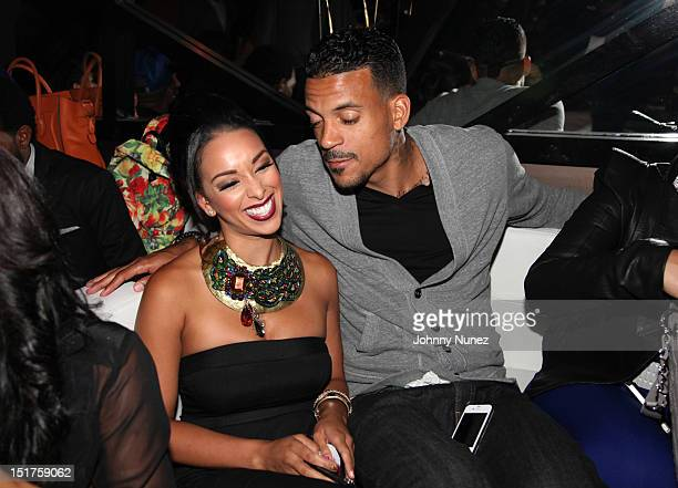 """Gloria Govan and NBA player Matt Barnes attend the """"Basketball Wives LA"""" Season 2 Premiere at Suite 55 on September 10, 2012 in New York City."""