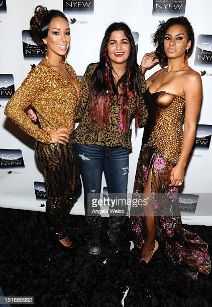 Gloria Govan Anna Francesca and Laura Govan attend the Anna Francesca Spring 2013 fashion show during MercedesBenz Fashion Week at Helen Mills Event...