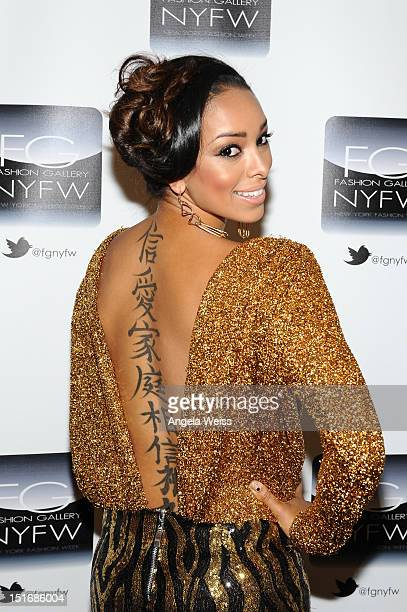 Gloria Govan attends the Anna Francesca Spring 2013 fashion show during MercedesBenz Fashion Week at Helen Mills Event Space on September 9 2012 in...