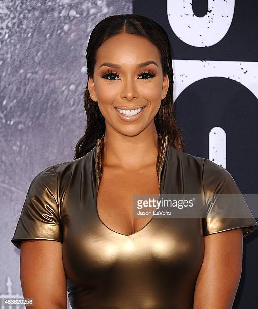 Gloria Govan attends the premiere of 'Straight Outta Compton' at Microsoft Theater on August 10 2015 in Los Angeles California