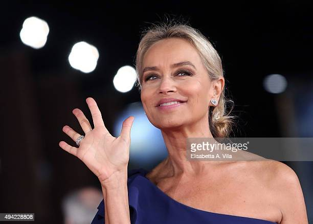 Gloria Guida attends a red carpet for 'La Grande Bellezza' during the 10th Rome Film Fest at Auditorium Parco Della Musica on October 24, 2015 in...
