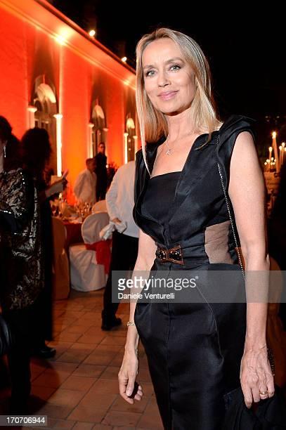 Gloria Guida attends Taormina Filmfest and Prince Albert II Of Monaco Foundation Gala Dinner at on June 16 2013 in Taormina Italy